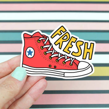 90's Sticker, Fresh Shoes Sticker, Trendy Shoes Sticker, 90's Kid, Funny Sticker, Dope Shoes Sticker, Basic Vinyl Sticker, Laptop Sticker