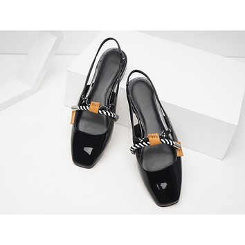 Fashion hot - selling wind knot decorated low heel women's shoes