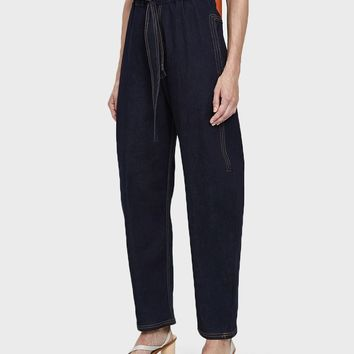 House of Sunny / Paper Bag Trousers in Denim