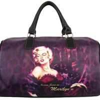 Licensed Marilyn Monroe Overnight Black Bag
