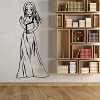 Vinyl Wall Decal Cartoon Anime Girl Sexy Student Book Stickers Unique Gift (1722ig)