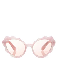 Flower Cat Eye Sunglasses In Light Pink Pearl by Opening Ceremony - Moda Operandi