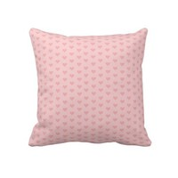 Soft Pink Heart Pattern Throw Pillow from Zazzle.com