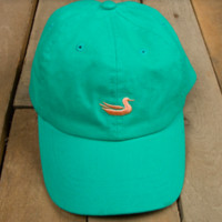Southern Marsh Collection LIMITED EDITION Washed Baseball Hat- Jockey Green/Peach Duck
