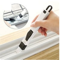 2 in1 Multipurpose window groove cleaning brush Nook cranny household keyboard home kitchen folding  brush cleaning tool