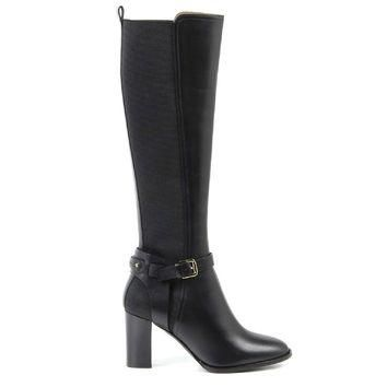 Black 36 EUR - 6 US Ralph Lauren Womens High Boot MELA SPORT CALF BLACK