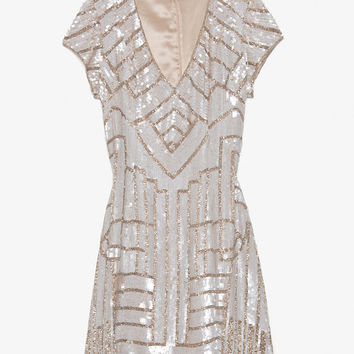 Parker Serena Sequined Cap Sleeve Dress-Dresses-Clothing-Categories- IntermixOnline.com