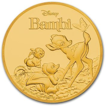 2017 Niue 1/4 oz Gold $25 Disney Bambi 75th Anniversary