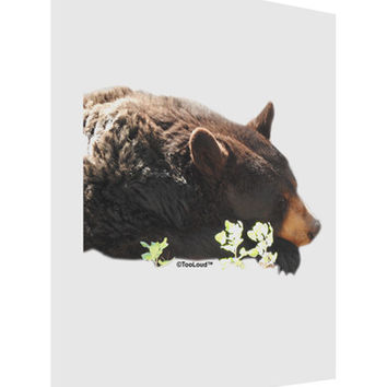 Laying Black Bear Cutout Matte Poster Print Portrait - Choose Size