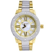 Jewelry Kay style Men's Silver / Gold Plated Metal Band Bling Iced Out Hip Hop Watches WM 1298 TT