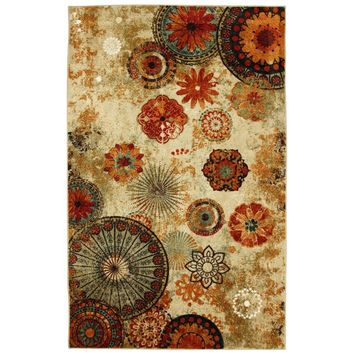 Mohawk Caravan Medallion Multi 8 ft. x 10 ft. Area Rug-365233 at The Home Depot