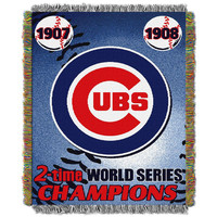 Chicago Cubs MLB World Series Commemorative Woven Tapestry Throw (48x60)