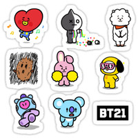 'BTS BT21' Sticker by lyshoseok