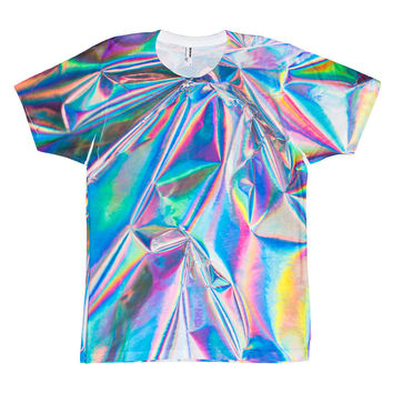 So into this design on Fab! Rainbow Foil Tee #FabForAll
