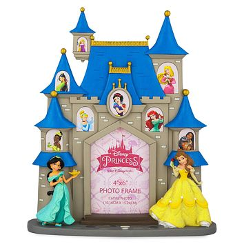 Disney Parks Princess Fantasyland Castle Picture Photo Frame 4x6 New
