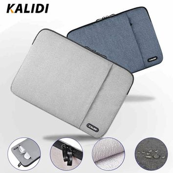 KALIDI Laptop Sleeve Bag Waterproof Notebook Case For Macbook Air 11 13 Pro 13 15 Dell Asus HP Acer Sleeve 13.3 14 15.6 Inch