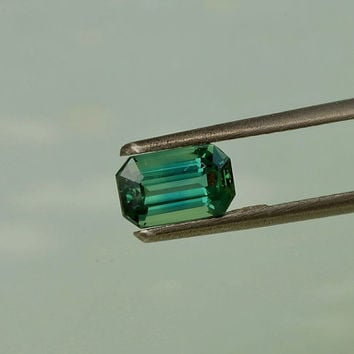 Blue Green Sapphire Emerald Cut Shape September Birthstone Emerald Cut Loose Gemstone for Jewelry Pendant or Ring