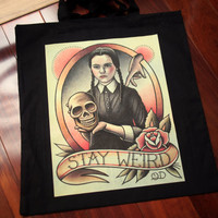 "Wednesday Addams Tote bag 15""x16"""