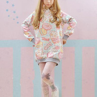 Lovely Donut hoodie Jumper Treats Free Shipping from SpreePicky