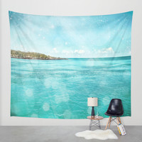 Caribbean Blue Wall Tapestry by Jenndalyn | Society6
