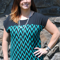 Jade Chevron Fashion Top