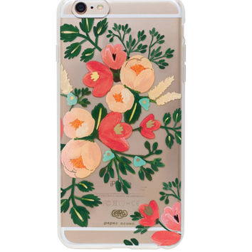 RIFLE PAPER IPHONE 6/6S PLUS CASE CLEAR PEACH BLOSSOM