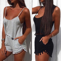 Crop Top and Love Shorts Set
