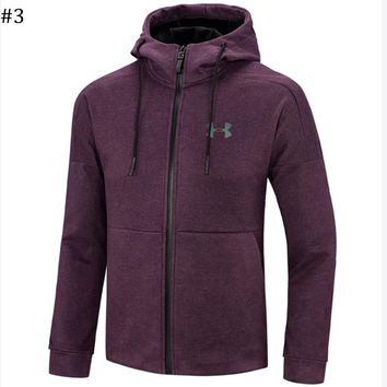 Under Armour autumn and winter new trend men's sports cardigan hooded sweater #3