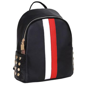 Girls bookbag Women Girls Preppy Rivet Bookbags School Travel Backpack Bag Women's School bag For Teenager Girls AT_52_3