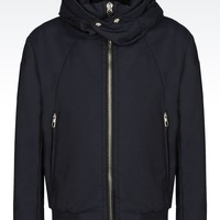 Giorgio Armani Men HOODED WOOL BLEND JACKET , Wool - Armani.com