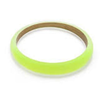 Alexis Bittar Lucite Tapered Bangle in Neon Yellow