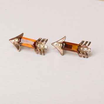 Vintage Sterling Silver Arrow Earrings
