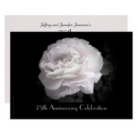 75th Anniversary Party Invitation Pale Pink Rose