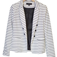 Double-Breasted Striped Blazer-FINAL SALE