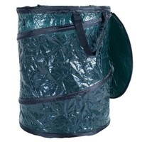 Texsport 16 gal. Green Collapsible Utility Bin Trash Can with Lid-75-11120 - The Home Depot