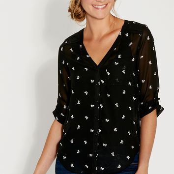 the perfect blouse in bow print