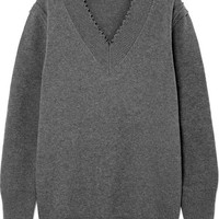 T by Alexander Wang - Distressed cotton-blend sweater
