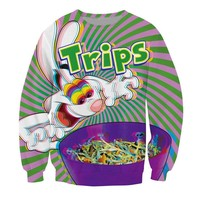 2018 Autumn Newest Fashion Women/Men Sweatshirts Trippy Vibrant Trix Rabbit Psychedelic Harajuku Style Pullovers Hoodies