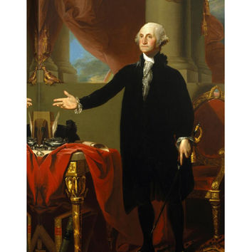 Global Gallery George Washington, 1796 by Gilbert Stuart (Giclee Canvas)