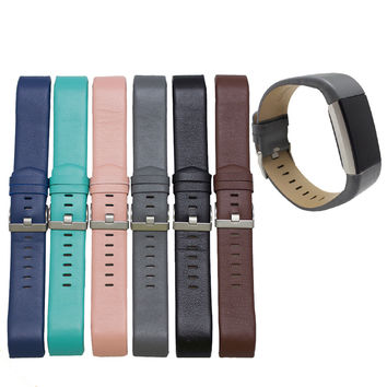 Watchbands PU leather Straps for watches New Fashion Sports Leather Bracelet Strap Band For Fitbit Charge 2 strap bracelets