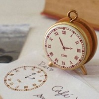 Clock wood mounted Rubber Stamp - The Time (vintage inspired)