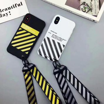 5plus OFF WHITE Zebra Soft TPU Case For iphone 7 7plus Candy soft TPU shell for iphone 6 7 8  plus x cases back cover case