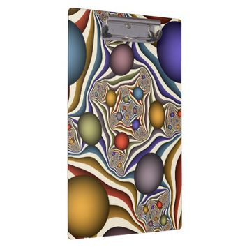 Flying Up, Colorful, Modern, Abstract Fractal Art Clipboard