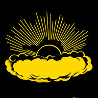 Vinyl Wall Art Decal Sticker Large Sunrise with Clouds #106