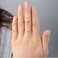 Thin Gold Stacking Midi Rings