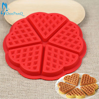OnnPnnQ Silicone Waffle Mold Maker Pan Microwave Baking Cookie Cake Muffin Bakeware Cooking Tools Kitchen Accessories Supplies