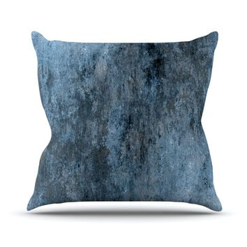 "CarolLynn Tice ""Familiar"" Dark Blue Throw Pillow"