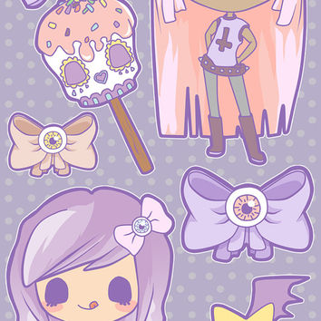 Creepy Candy Stickers by MintyShop on Etsy