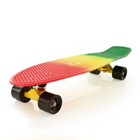 "Penny Skateboards USA Penny Nickel Rasta Fade 27"" Original Plastic Skateboard"