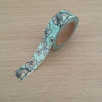 Washi tape with flowers and birds